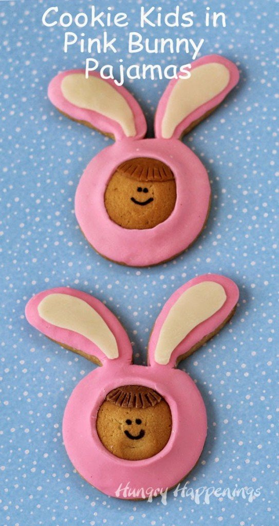 Cookie Kids in Pink Bunny Pajamas | HungryHappenings.com