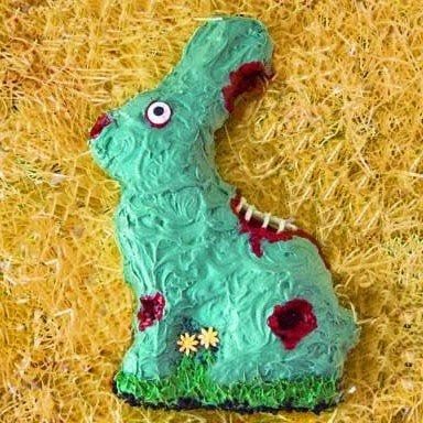 Zombie Easter Bunny Cake | HungryHappenings.com