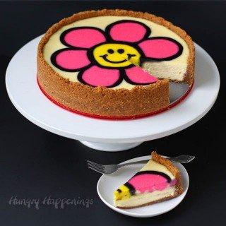 Decorated Daisy Cheesecake