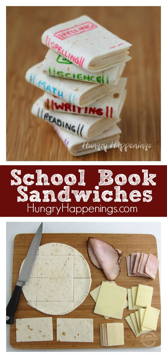 Looking for a way to get your kids excited for the upcoming school year? Try making theseSchool Book Sandwiches! This simple snack will be sure to have your kids ready for school!