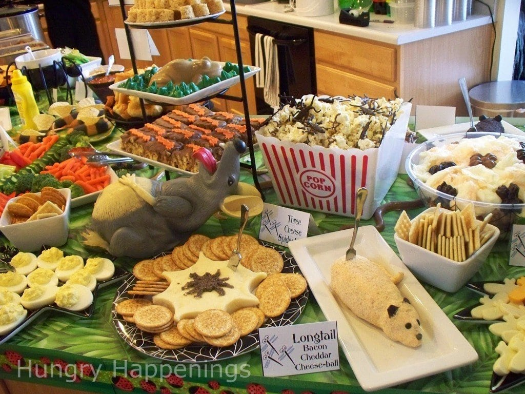 Halloween Themed Birthday Party Food Ideas.Cute And Creepy Bug Themed Party Food Hungry Happenings