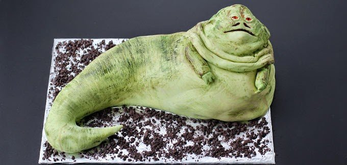 Jabba the Hutt Cake | HungryHappenings.com