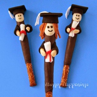 Pretzel Pop Graduates decorated with Wilton's New Fondant