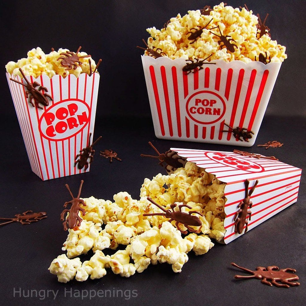 Chocolate Roach Infested White Chocolate Popcorn