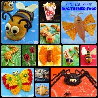 Cute and Creepy Bug Themed Party Food