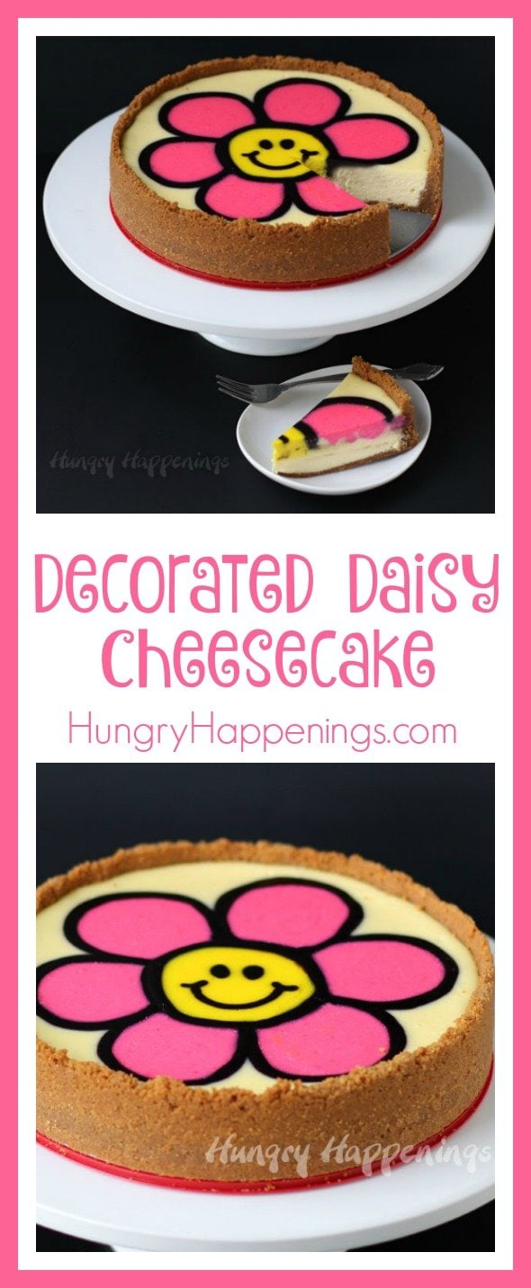 Looking for a delicious dessert to make for a special occasion? Well look no further because this Decorated Daisy Cheesecake is the dessert to make! This bright and colorful cheesecake will have everyone impressed by your cooking skills.