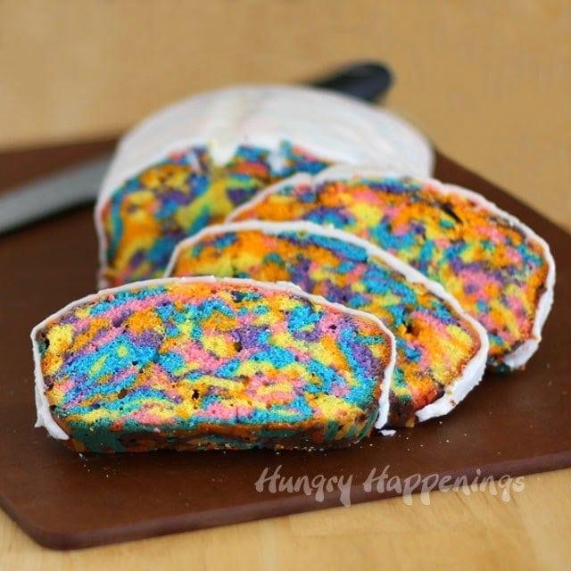 Neon Tie-Dye Pound Cake