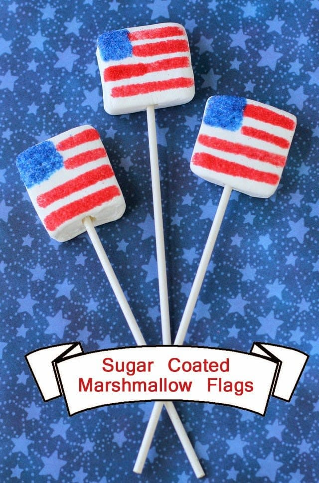 Fourth of July recipe marshmallow flags