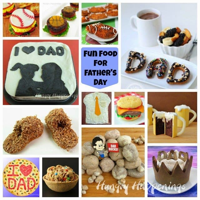 Don't have any idea what to make the dads in the family for Father's Day? Well look no further! Here are some Fun Food For Father's Day ideas that are absolutely amazing!