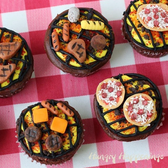 Grill Cupcakes Topped with Pizzas, Potatoes, Corn and More