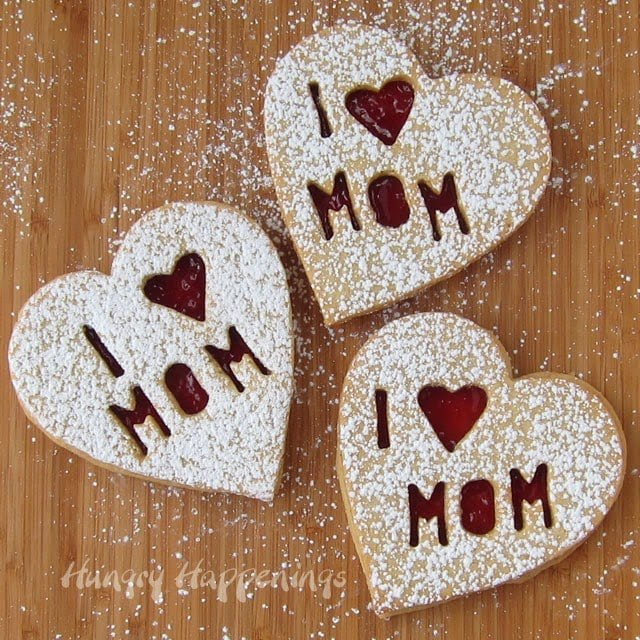 Mother's Day Linzer Cookie Hearts