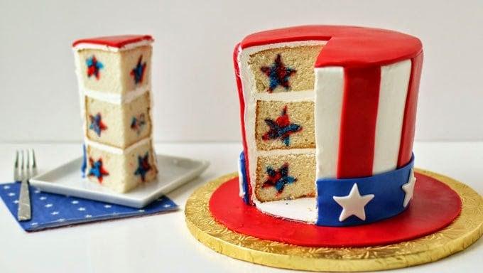 Uncle Sam Hat Surprise Cake