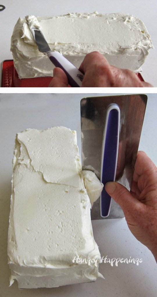 How to frost a rectangle cake