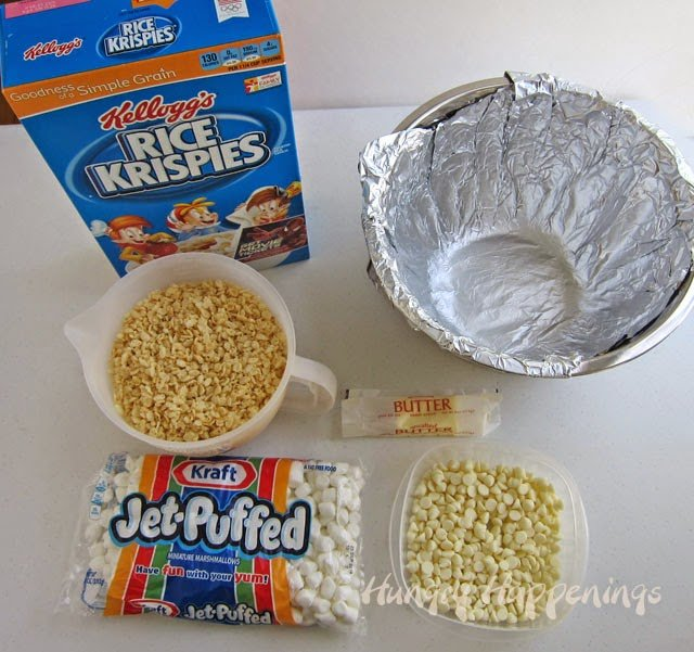 How to make a rice krispie treat bowl