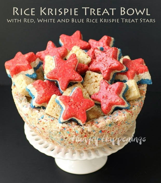 4th of July Rice Krispies | HungryHappenings.com