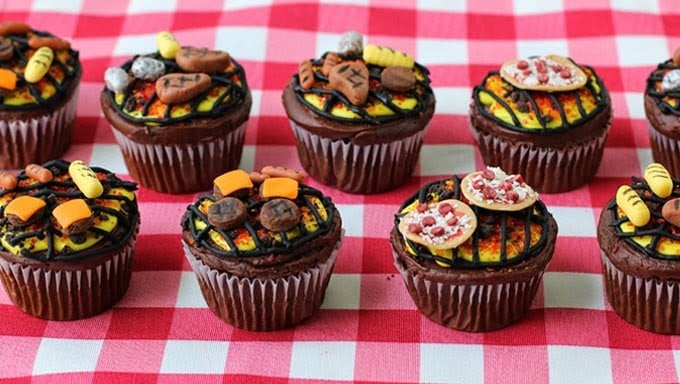 cookout themed cupcakes