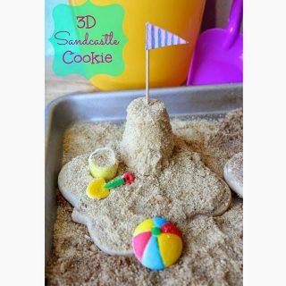3D Sandcastle Cookies