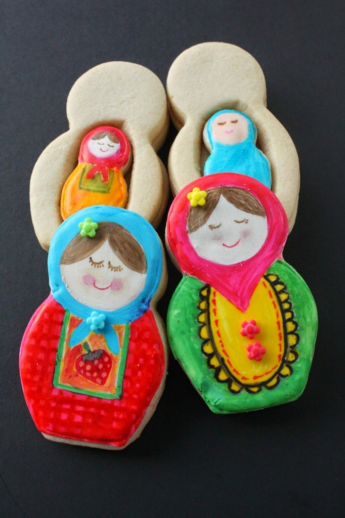 Decorated Cookies - Russian Nesting Doll Cookies