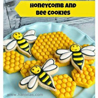 Honeycomb and Bee Cookies
