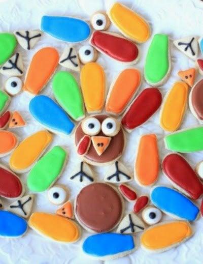 Decorated Cookies - Turkey Cookies