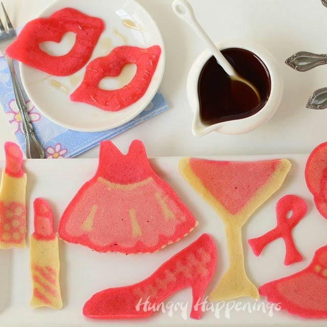 Have you ever tried your hand at making pancake art? Until recently I had not, but that all changed when I was asked to create some Pretty in Pink Pancake Art for Tablespoon.com