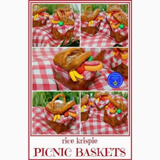 Rice Krispie Picnic Baskets by Hoopla Palooza