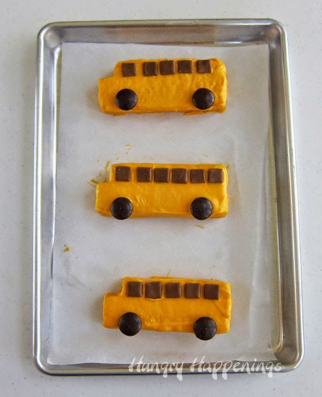 Rice Krispie Treat School Buses