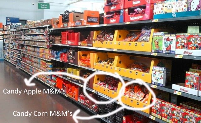Candy Apple M&M's at Walmart