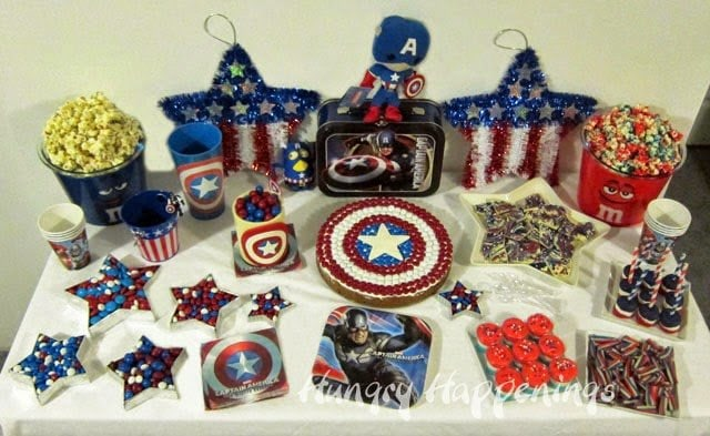 Captain America Party Food | HungryHappenings.com