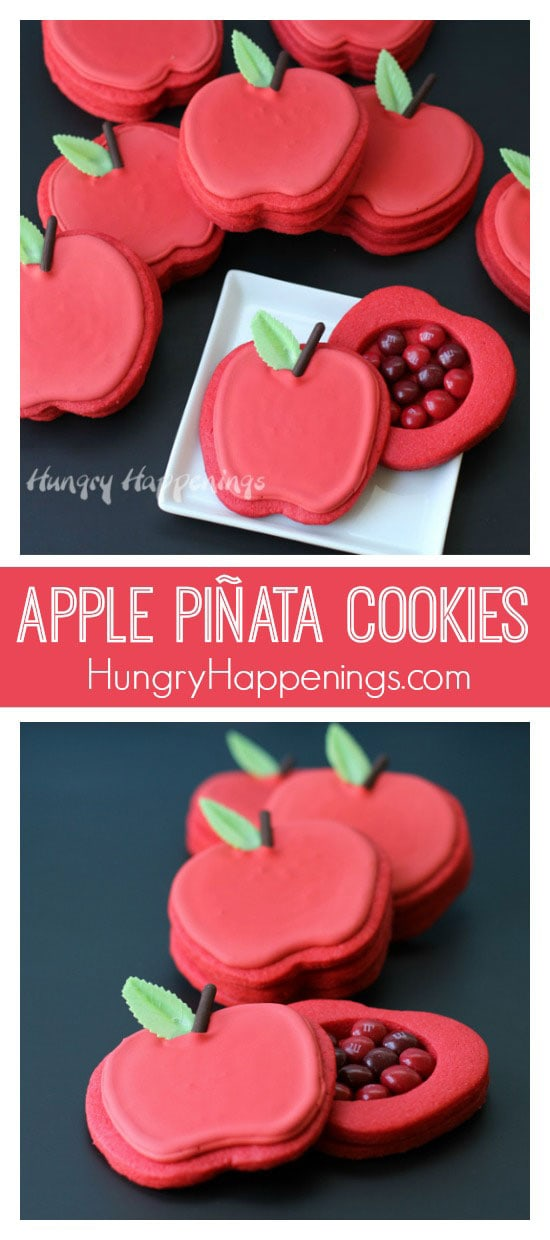 I hosted an apple harvest party and served Apple Piñata Cookies, a 3-D Rice Crispy Treat Apple Tree filled with Candy Apple M&M's®, Berry Apple Fruit Snacks and more! You have to try these fun treats!