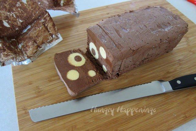 how to cut Chocolate Semifreddo