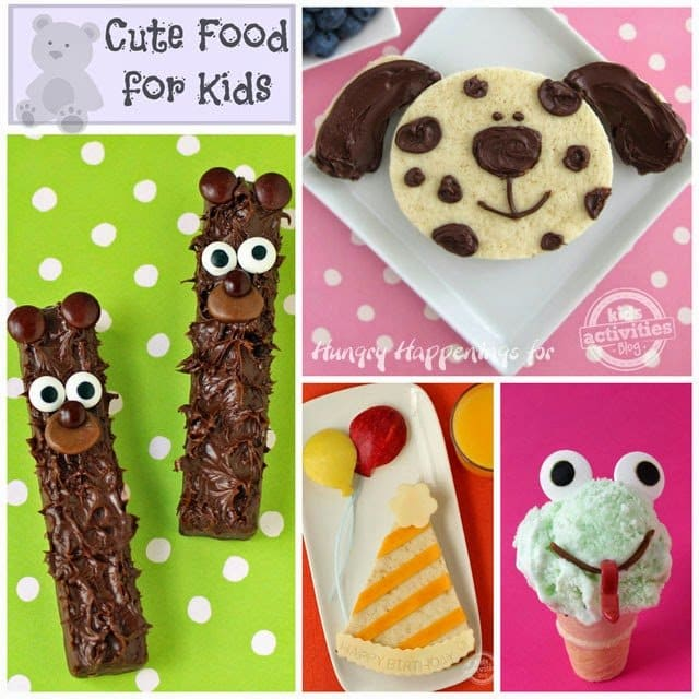 Cute Food For Kids - Puppy Sandwich, Chocolate Bear, Birthday Sandwich & Ice Cream Cone Frogs | HungryHappenings