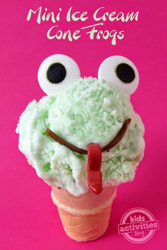 Mini Ice Cream Frogs   HungryHappenings.com