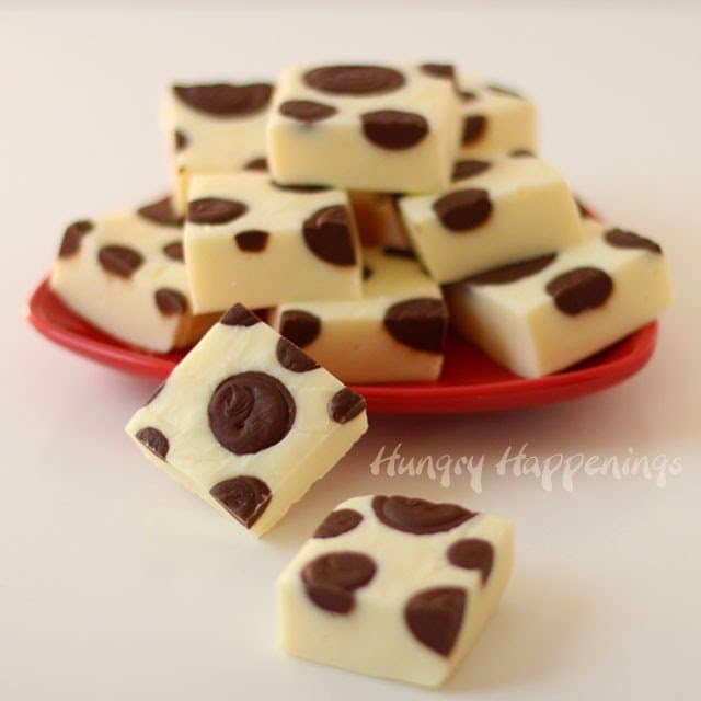 Polka Dot Chocolate Coconut Fudge Recipe