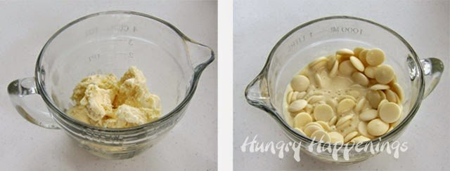 Vanilla Ice Cream White Chocolate Ganache | HungryHappenings.com