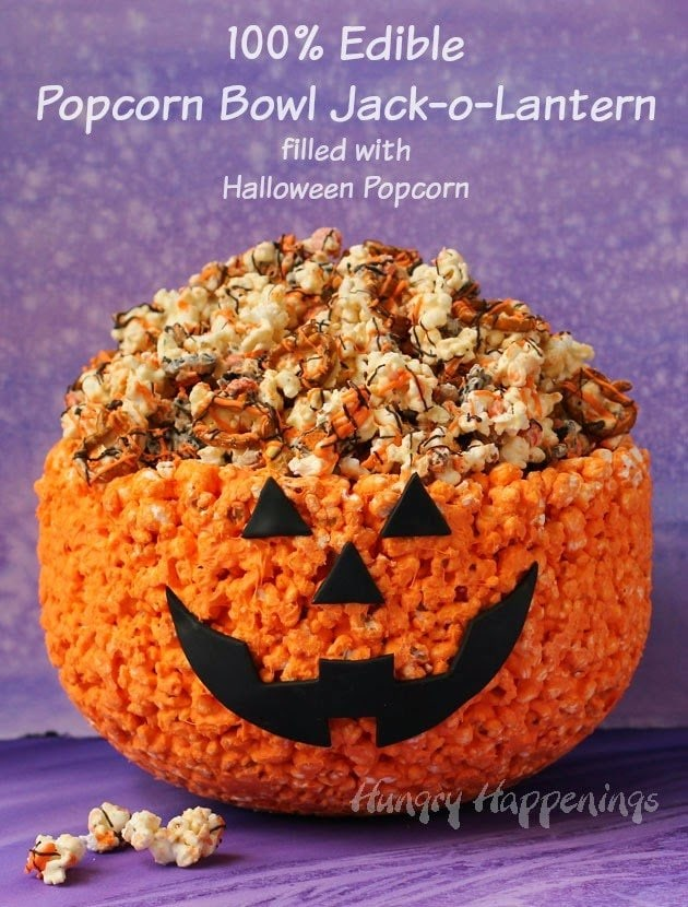 Halloween Popcorn Bowl Jack-O-Lantern