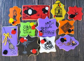 Stamped Halloween Cookies www.ThePartiologist.com