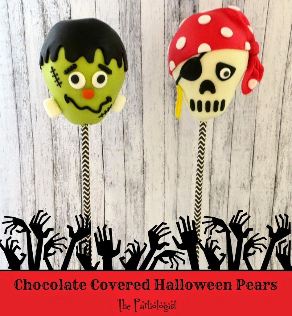 Chocolate Covered Halloween Pears