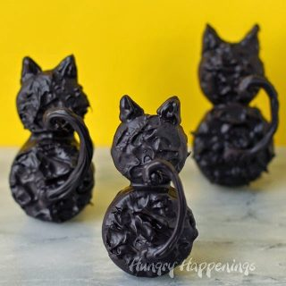 Backside Black Cat Cookies