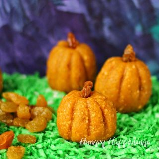 Raisin and Peanut Power Bar Pumpkins