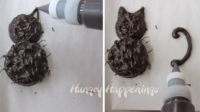 How to make a chocolate dipped black cat cookie for Halloween