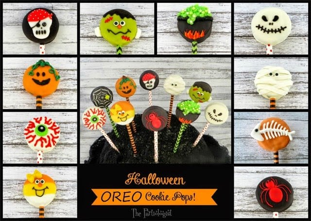 Oreo Cookie Pops for Halloween | The Partiologist for HungryHappenings.com