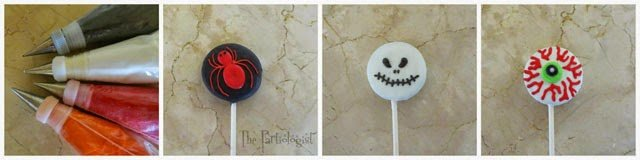 Halloween Oreo Cookie Pops, Spider, Jack Skelington, Eyeball