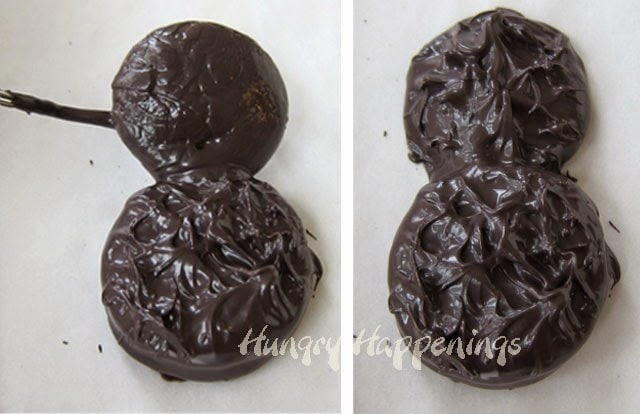 How to make a chocolate dipped black cat cookie