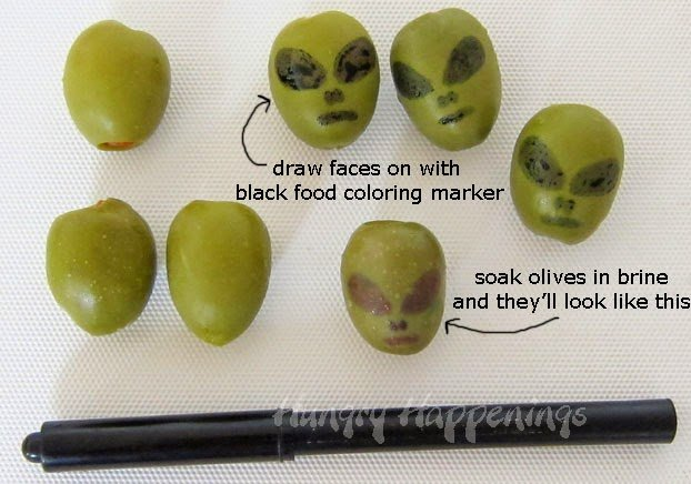 How to make Olive Aliens | HungryHappenings.com