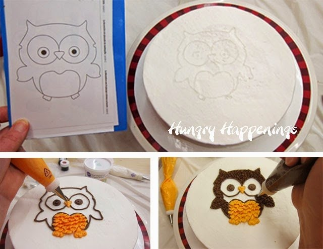 Transfer an image onto a cake using piping gel | HungryHappenings.com