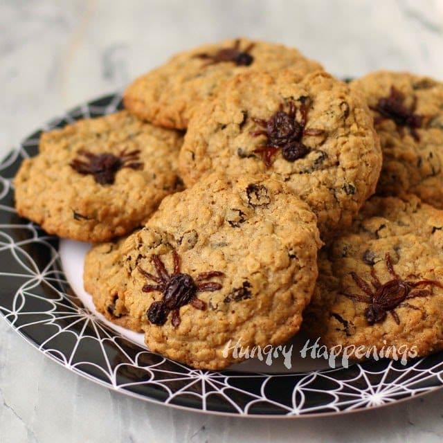 Oatmeal raisin spider cookies.