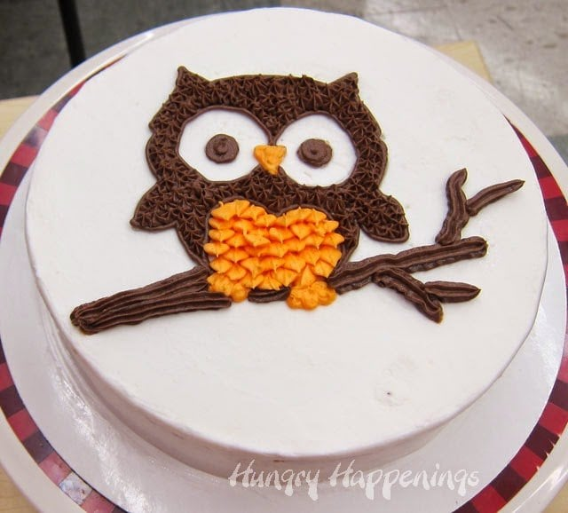 Easy Owl Cake Design : Black and Orange Halloween Petal Cake - Hungry Happenings