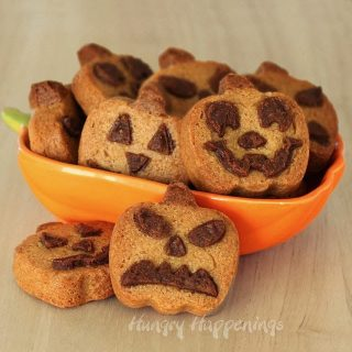 Peanut Butter Jack-O-Lantern Cookies