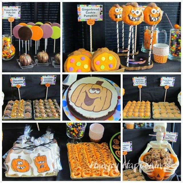 Pumpkin Themed Desserts for a Halloween Party | HungryHappenings.com